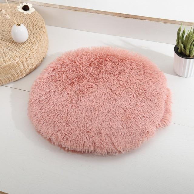 Round House Cat Bed Comfortable Anti Anxiet House For Cat Fleece Marshmallow Small Dog Mat Cat Pet Bed Mat Medium Animals Sofa - GoJohnny437