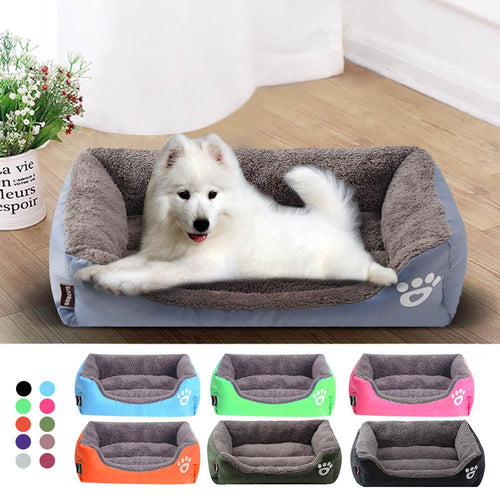 (S-3XL) Large Pet Cat Dog Bed 8Colors Warm Cozy Dog House Soft Fleece Nest Dog Baskets Mat Autumn Winter Waterproof Kennel #1 - GoJohnny437