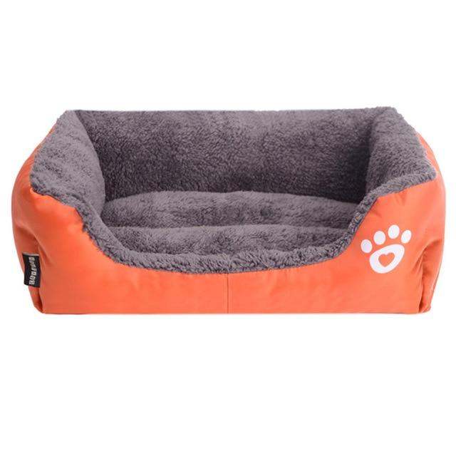 (S-3XL) Large Pet Cat Dog Bed 8Colors Warm Cozy Dog House Soft Fleece Nest Dog Baskets Mat Autumn Winter Waterproof Kennel