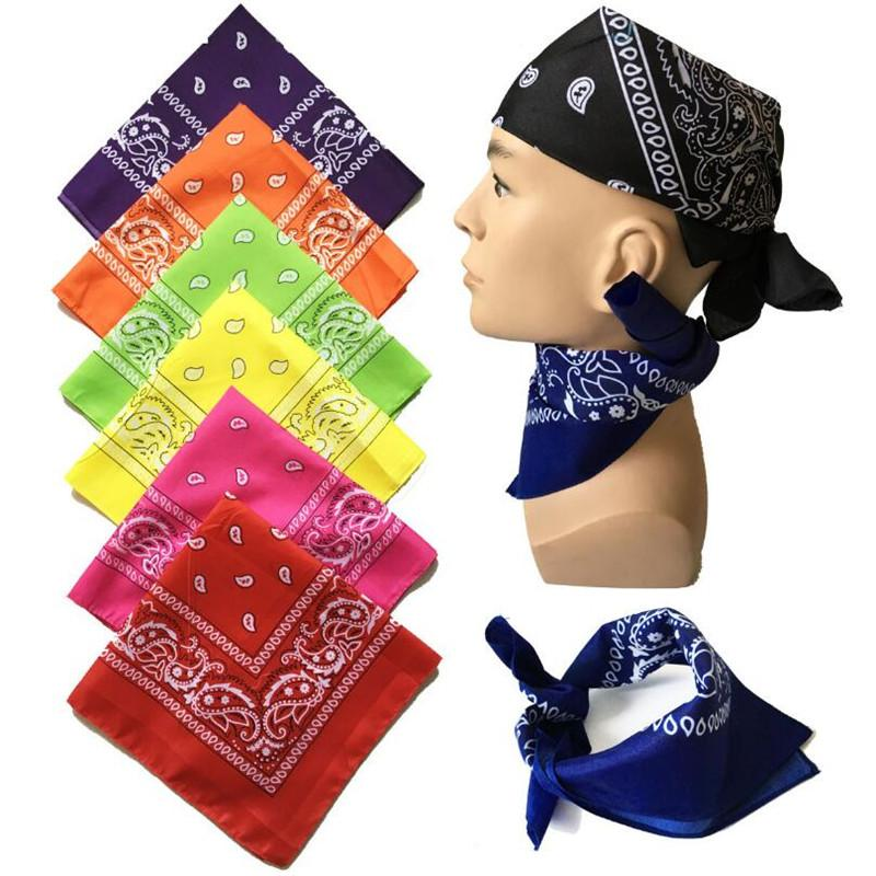 Scarf hip Hop Red Bandana Man Women Fashion Headbands Hair Band Wrist Wraps Hair Scarves High Quality Hair Accessories - GoJohnny437