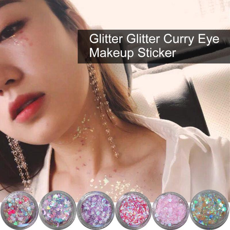 Sequins Glitter Glue Flash Children Show Eye Makeup Stickers Tears Stickers Love Stars Stickers Shimmer Make Up - GoJohnny437