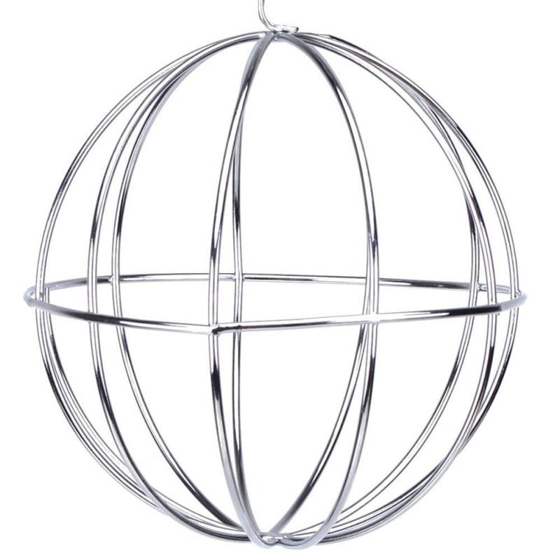 Stainless Steel Pet Toys Round Sphere Feed Dispense Exercise Hanging Hay Ball Guinea Pig Hamster Rat Rabbit - GoJohnny437
