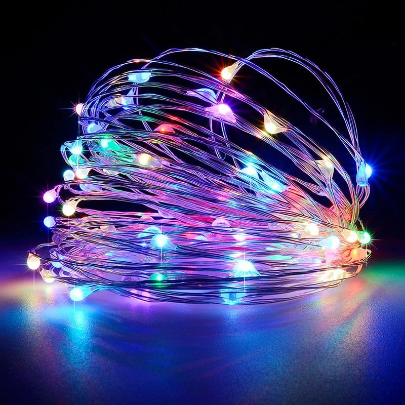string light led garland 1m 2m 5m 10m USB battery powered outdoor Warm white/RGB festival wedding party decoration fairy light - GoJohnny437