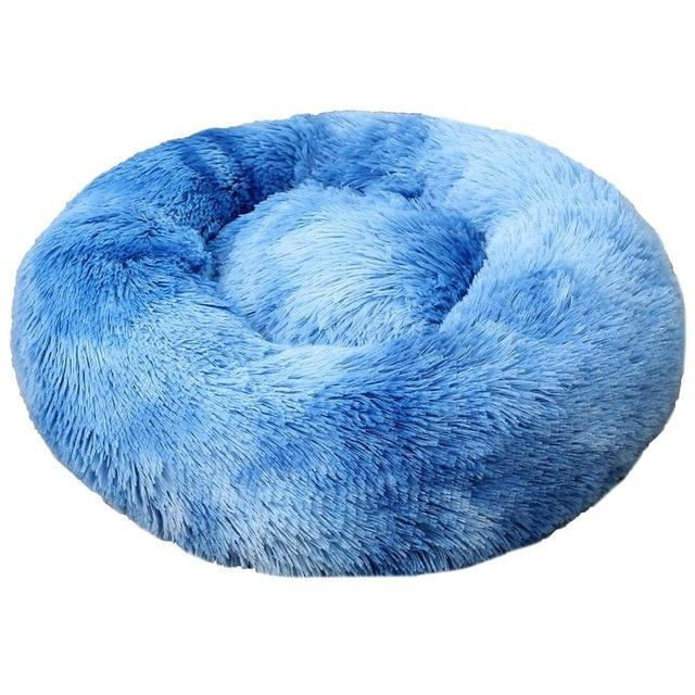 Super Soft Pet Bed Kennel Dog Round Cat Winter Warm Sleeping Bag Long Plush Puppy Cushion Mat Portable Cat Supplies 46/50/60cm - GoJohnny437