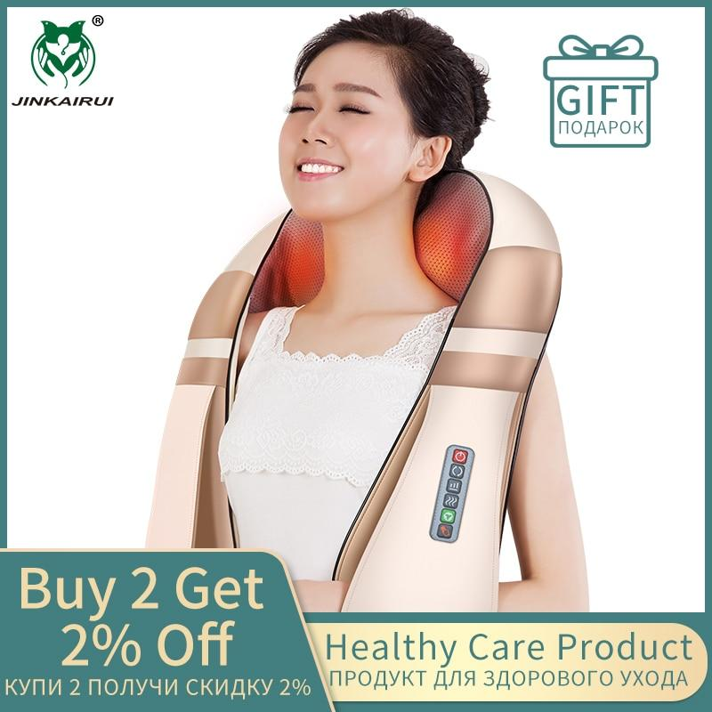U Shape Electrical Shiatsu Body Shoulder Neck Massager Back Infrared 4D kneading Massage Car Home Best Gift HealthCare - GoJohnny437