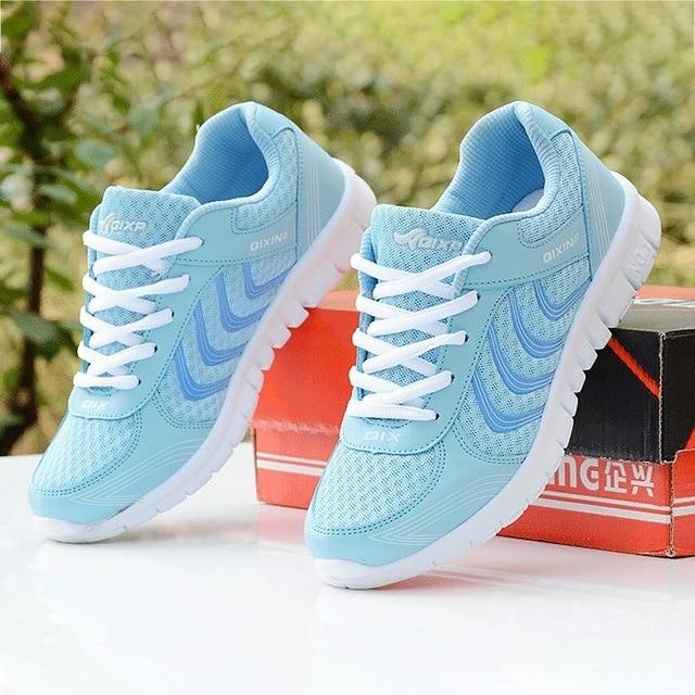 Women shoes New fashion tennis light breathable mesh white shoes woman casual shoes women sneakers fast delivery - GoJohnny437