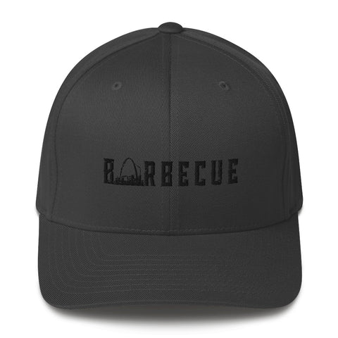 Arch City Barbecue Flex-Fit Hat (Black Logo)