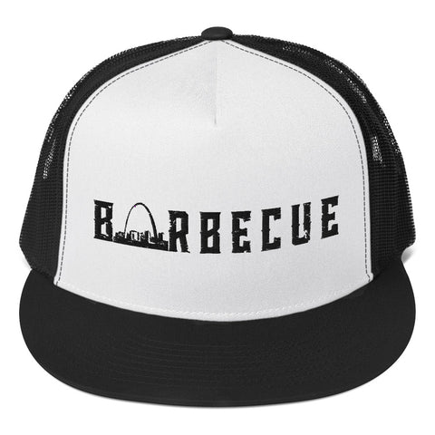 Arch City Barbecue Trucker Hat (Black Logo)