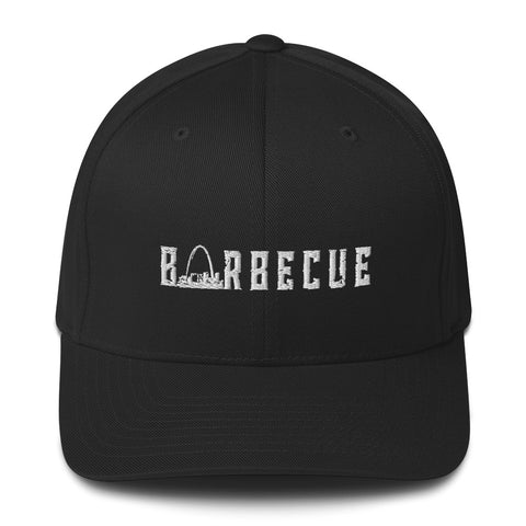 Arch City Barbecue Flex-Fit Hat (White Logo)