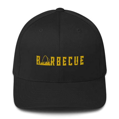 Arch City Barbecue Flex-Fit Hat (Yellow Logo)
