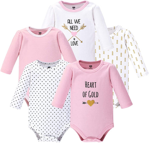 Hudson Baby Baby Boys' Cotton Long-Sleeve Bodysuits