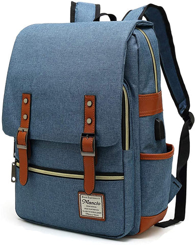 Slim Vintage Laptop Backpack For women,Men For Travel,