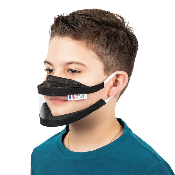 Family Pack Size XS + S + M - Transparent face mask with elastics