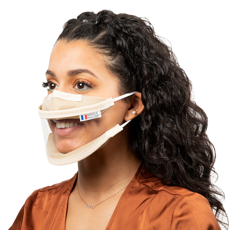 Size S - Transparent face mask with elastics