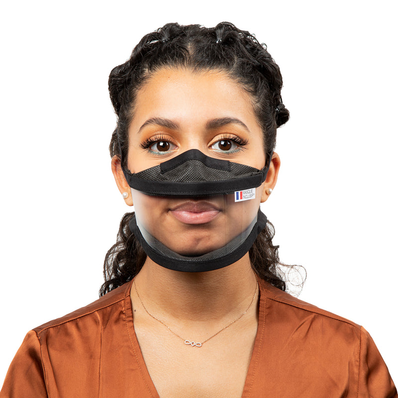 Size S - Transparent face mask with straps
