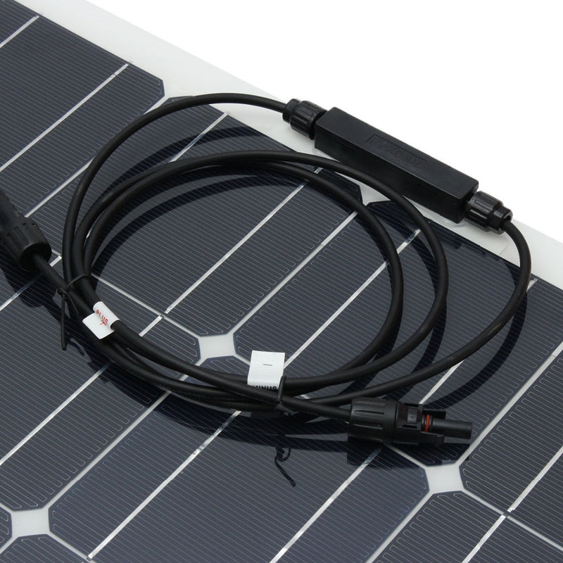 200 w Solar system 2 pcs flexible solar panel 100 w 1 set solar controller and solar cable DIY kit for 12v battery