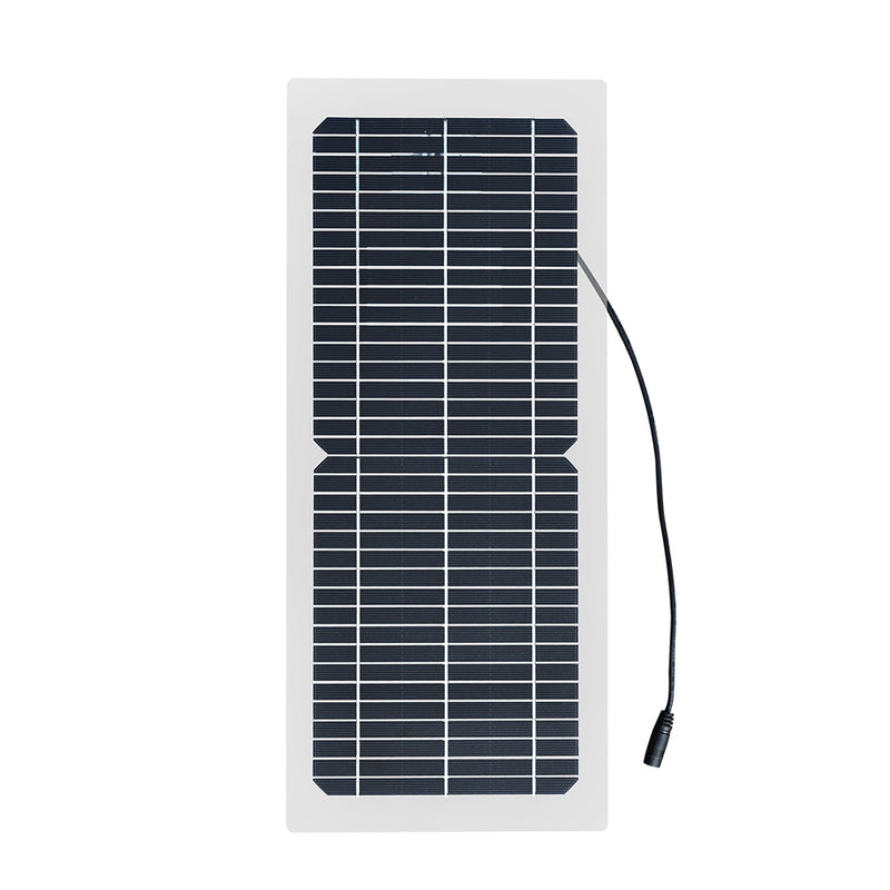 18V 10w solar panel kit Transparent semi-flexible Monocrystalline solar cell DIY module outdoor connector DC 12v charger