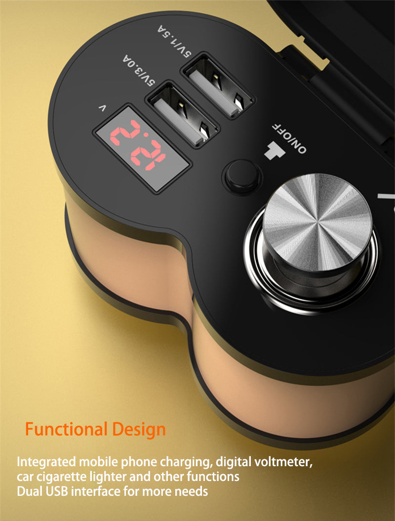 Quick Charge 5V 3.0A/1.5A Dual USB Motorcycle Cigarette Lighter