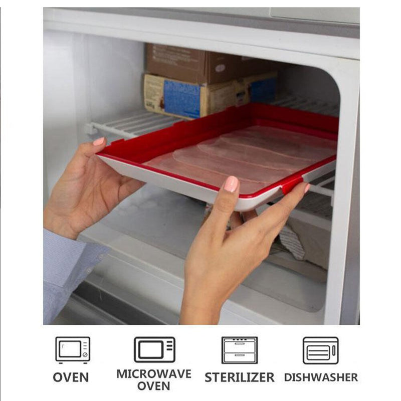 1PC Food Preservation Tray Reusable Plastic Food Fresh Storage Container Refrigerator Microwave Kitchen Cover
