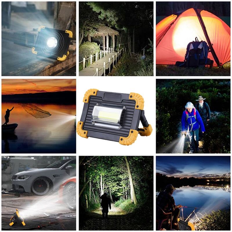Work Lamp 100 watts LED Portable Lantern Waterproof 4-Mode Emergency Portable Spotlight Rechargeable Floodlight for Camping Light
