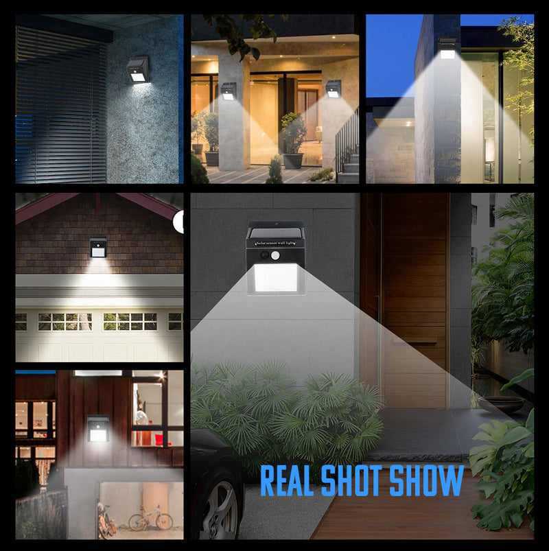 Solar Powered Wall 30 LED Outdoor  Waterproof light with PIR Motion Sensor