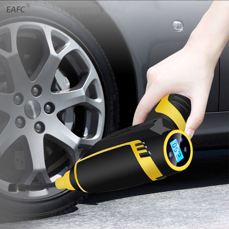120W Wireless Car Air Compressor  Handheld USB Rechargeable  Car Accessories