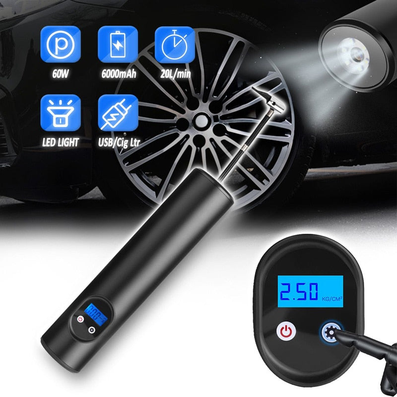 12V 150PSI Portable Car Air Pumps Electric Tire Inflator car bike bicycle pump Auto Car Wireless Inflatable Pump