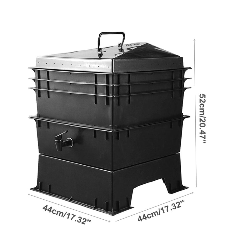 Kitchen Waste Earthworm Compost Box DIY Composter Worm Factory Composter Homemade Earthworm Manure And Soil Buckets