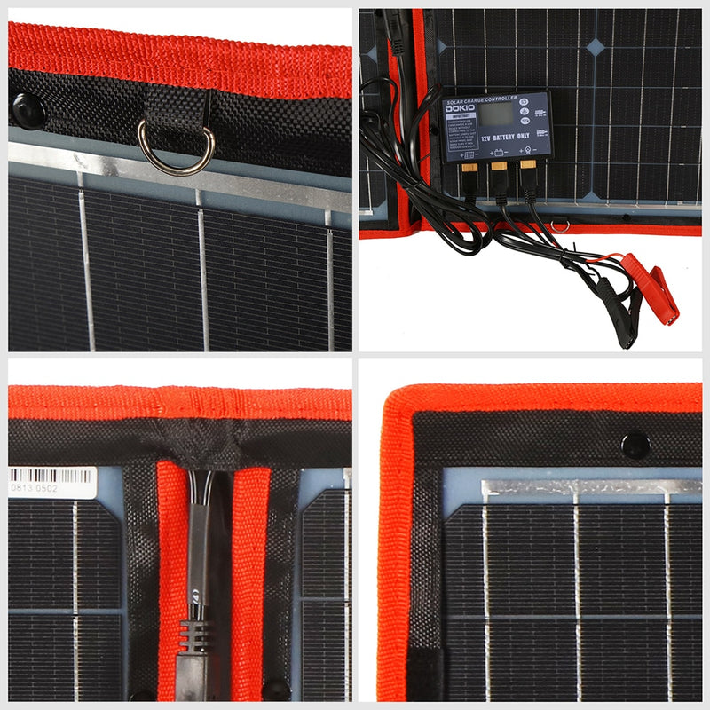 Flexible Folding Solar Panel High Efficiency  12 V 80 w 100 w 150 w 200 w 300 w Solar Panel Kit