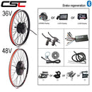 Electric bike Conversion Kit Bluetooth 36V 48V 250W 350W 500W 1000W 1500W 20-29inch EBike Front Rear Bicycle hub Motor Wheel