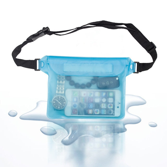 Outdoor Waterproof Swimming Storage Dry Bag with Adjustable Strap Universal Waist Pack Pouch for Cell Phone