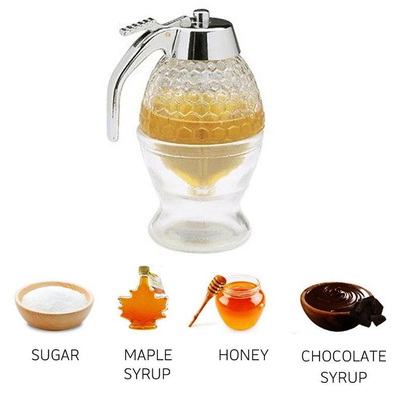 Honey Jar Container Storage Pot Stand Holder Squeeze Bottle