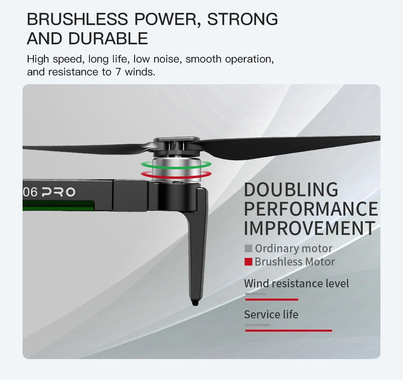 2020 new drone brushless motor 4KHD equipment stable PTZ 5G WIFI GPS system supports TF card, remote control 1.2km
