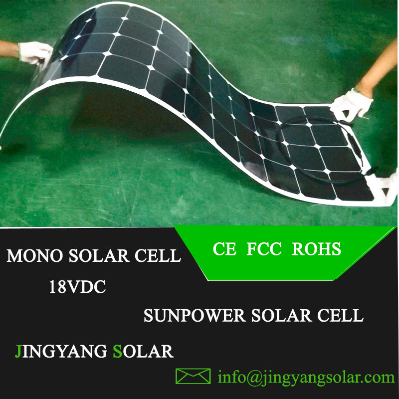 New 100w 200w flexible solar panel ETFE or PET18V for 12V battery charger monocrystalline solar cell panel  home system kit