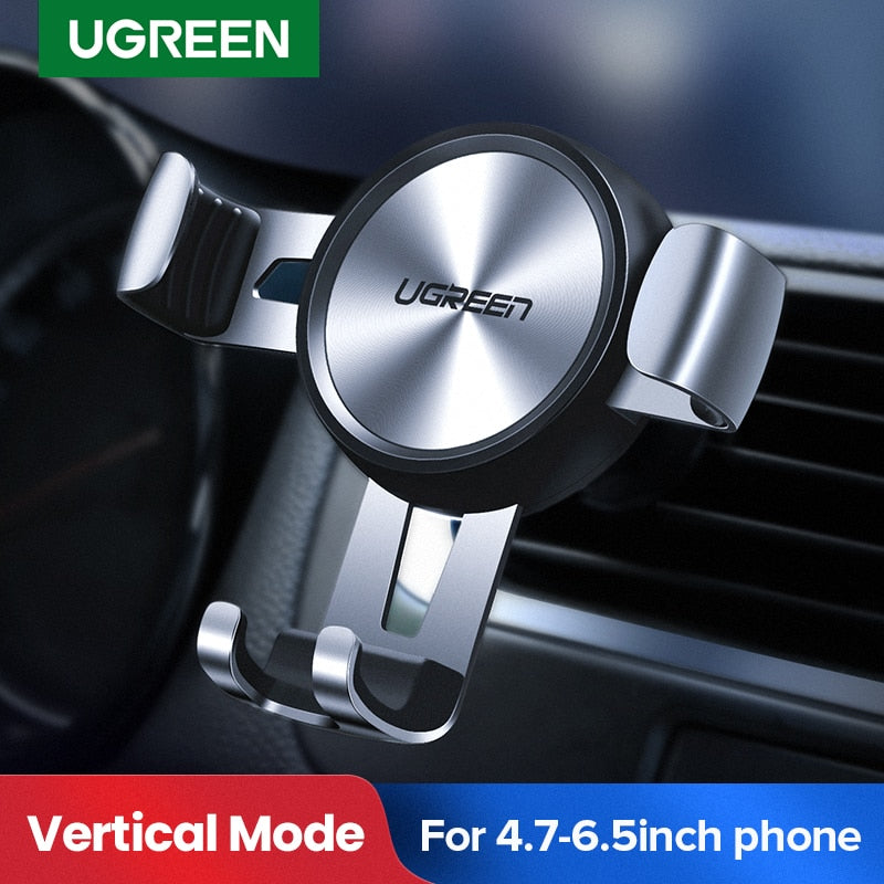 Car Phone Holder for Mobile Smartphone  Auto Vent Mount Gravity Holder Stand