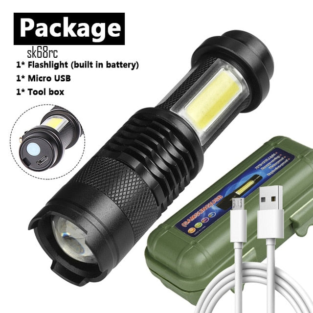 Mini LED Flashlight Usb Rechargeable led flashlight 3 Mode  for Night Lighting