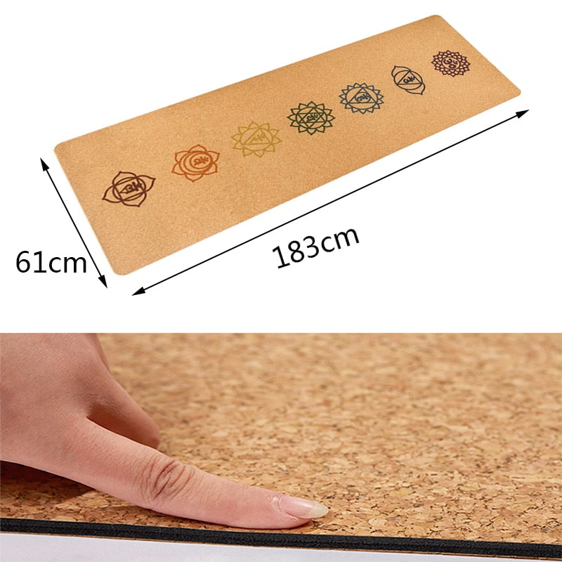 Natural Cork  Yoga Mat Fitness Gym 5 mm thickness