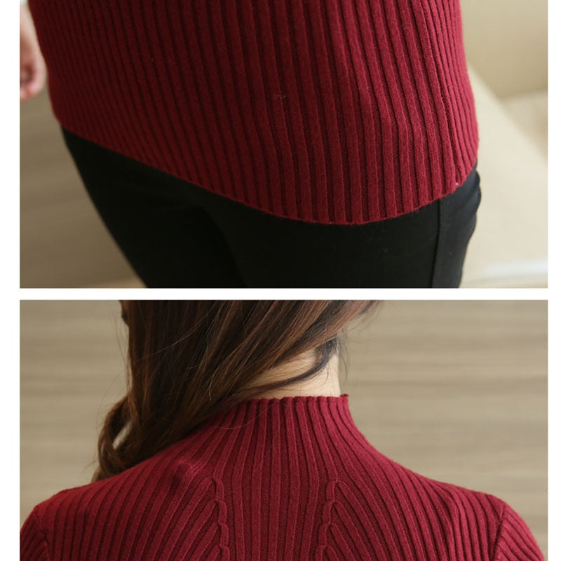 Tops Sweaters 2020  Long Sleeve Turtleneck Pullovers Bamboo Fiber