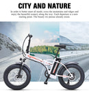 Electric bike 500 W 4.0 fat tire folding  48 V 15 AH lithium battery