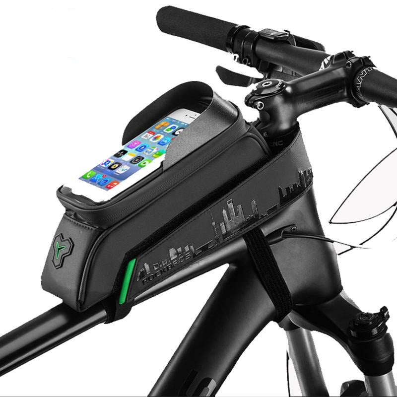 Bicycle Bag Front Tube touch Screen Saddle Bag Waterproof Cycling Frame 5.8/6 Inch