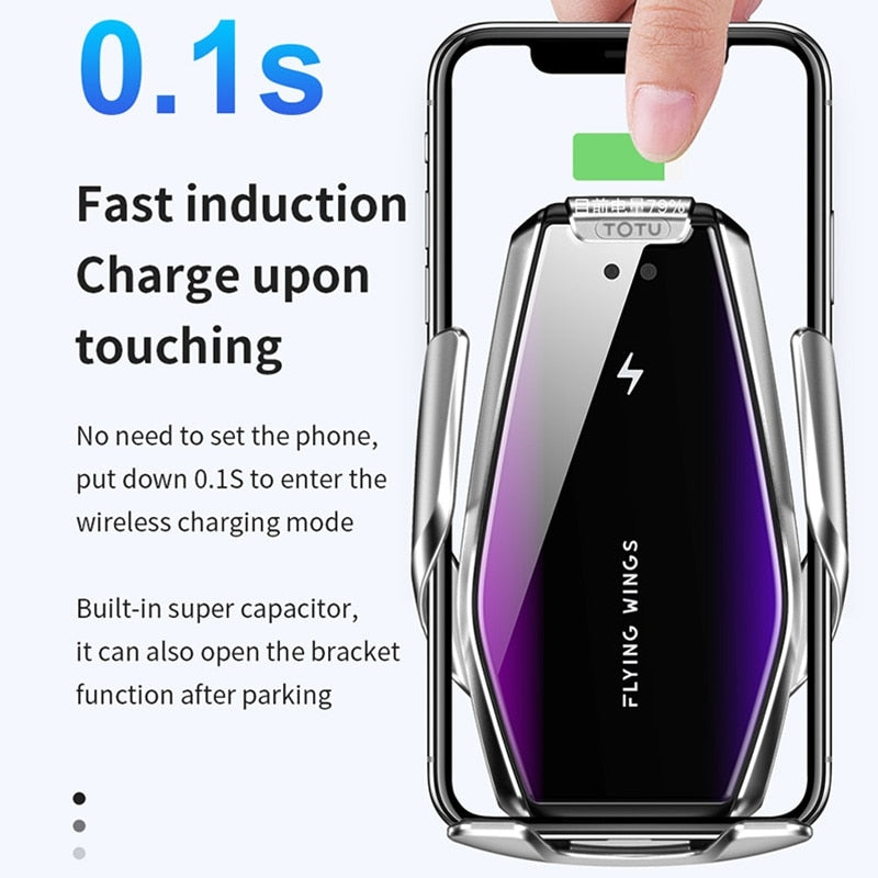 TOTU Car Phone Mount Stand Holder Induction Wireless Charger For iPhone 11 Pro X XS 7 8 6 6s Car Air Outlet Phone Holder Stand