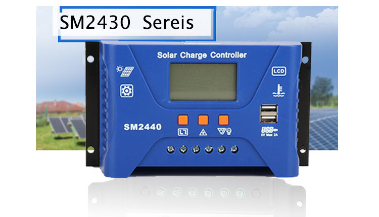 30A 20A 10A 12V/24V Auto Solar Charge Controller PWM PV Solar Battery Charger Solar PV Regulators for Lithium-ion Battery