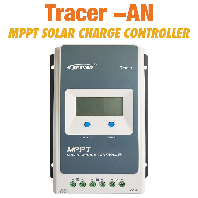 MPPT Solar Controller Tracer 4210an 40A 30A 20A 10A Solar Panel Regulator for 12V 24V Lead Acid Lithium-ion Battery