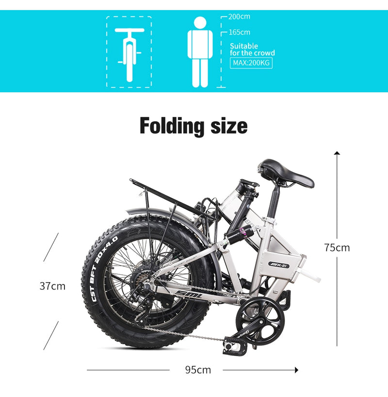 E bike Electric bicycle 500 W  48 v 12.8 ah lithium battery  electric mountain bike