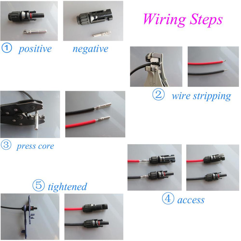 10pairs Connector  Spanner male and female 30 A Cable Plug Connector Solar Panel branch series Connect solar system