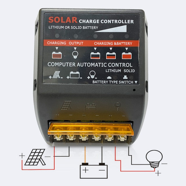 20A solar Charge Controller 12V 24V solar panel PV Regulator For 480W 240W with lithium battery and solid battery Charger