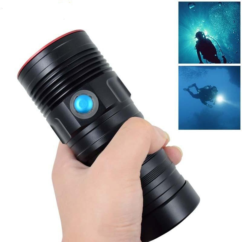 Diving Flash Light 10000 Lumens 5*XM-L2 LED Dive Torch Powerful 18650 Flashlight Underwater 100m Waterproof