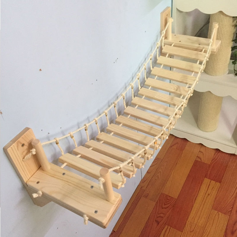 Cat Bridge Climbing Frame Jumping Bridge Pet Furniture