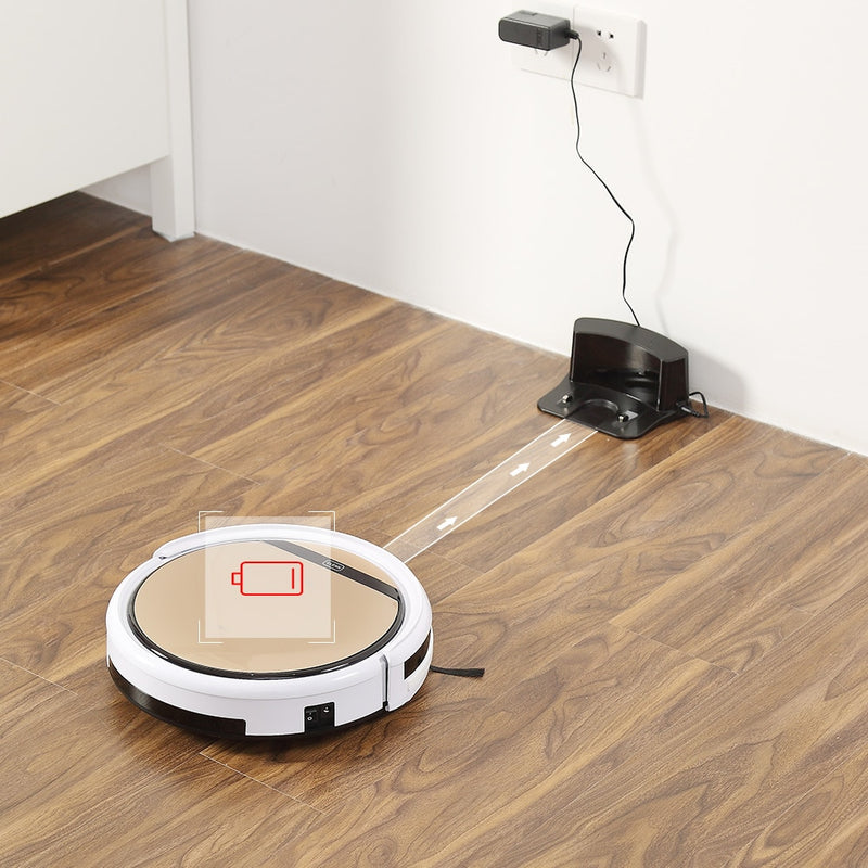 Plus Robot Vacuum Cleaner Sweep and Wet Mopping Disinfection For Hard Floors&Carpet Run 120 mins Automatically Charge