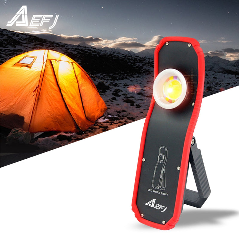 60w Portable Flashlight Torch USB Rechargeable LED Work Light Magnetic
